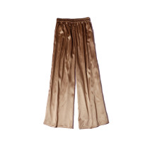 Casual pants Champagne The hip circumference is about 115cm, and the hip circumference is about 120cm Summer 2021 trousers Wide leg pants Natural waist commute 91% (inclusive) - 95% (inclusive) silk pocket silk