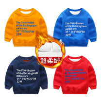Sweater / sweater Top one kids Red, yellow, blue, navy neutral Sign 90 is about 90, sign 100 is about 100, sign 110 is about 110, sign 120 is about 120, sign 130 is about 130 winter nothing Korean version Socket Plush No model cotton other Cotton 95% polyester 5% DY2455 Class B Cotton liner