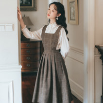 Fashion suit Spring 2021 S,M,L Two piece shirt and skirt with strap 18-25 years old 71% (inclusive) - 80% (inclusive) cotton