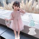 Dress Pink green white female Geyoupailang 90cm 100cm 110cm 120cm 130cm 140cm Other 100% summer Korean version Short sleeve other other Princess Dress GYXP2523-1 Class B Summer 2021 18 months, 2 years old, 3 years old, 4 years old, 5 years old, 6 years old, 7 years old, 8 years old