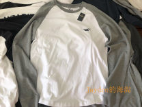 T-shirt Youth fashion routine S,M,L,XL,XXL Hollister Long sleeves Crew neck standard Other leisure autumn Cotton 95% other 5% teenagers routine Simplicity in Europe and America other 2018 Solid color printing cotton other Fashion brand 90% (inclusive) - 95% (inclusive)