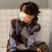 Fashion suit Winter 2020 Average size Coffee sweater, grey sweater, coffee skirt, grey skirt 18-25 years old 31% (inclusive) - 50% (inclusive)