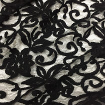 Fabric / fabric / handmade DIY fabric blending black Loose shear rice Plants and flowers other clothing Europe and America