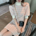 Dress Winter of 2019 Picture color Average size Middle-skirt singleton  elbow sleeve Half high collar 18-24 years old 71% (inclusive) - 80% (inclusive) knitting cotton