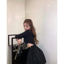 Fashion suit Winter 2020 S. M, average size White top, black top, black skirt 564