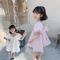 Dress White, pink female Other / other 90cm,100cm,110cm,120cm,130cm,140cm Other 100% summer princess Short sleeve Solid color blending Cake skirt LSLXZ - Dy49 bow skirt Class B 7 years old, 8 years old, 3 years old, 6 years old, 18 months old, 2 years old, 5 years old, 4 years old Chinese Mainland