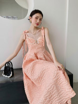 Dress Summer 2021 Orange powder S,M,L singleton  High waist other 18-24 years old Type A Other / other