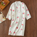 Nightgown / bathrobe Other / other female M, l Thin money Simplicity cotton summer More than 95% Medium length (knee to Mid Calf) Plants and flowers youth