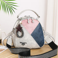 Bag Inclined shoulder bag PU Shell bag Tianyan brand new Japan and South Korea in leisure time soft zipper no Solid color Three One shoulder portable messenger Yes youth Conchoidal Splicing Soft handle polyester fiber soft surface Open your pocket