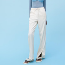 Casual pants Off white XS,S,M,L Spring 2021 trousers Wide leg pants street Europe and America