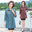 Middle aged and old women's wear Autumn 2020 Color one, color two XL,XXL,XXXL,4XL,5XL fashion Windbreaker easy singleton  Solid color 40-49 years old Cardigan moderate Medium length routine other Button