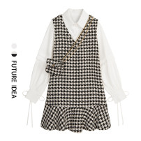 Fashion suit Spring 2021 S, M Black and white check Other / other