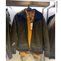 Jacket seixido Fashion City Off white, black S,M,L,XL Plush and thicken standard Other leisure winter Long sleeves Wear out Lapel Simplicity in Europe and America youth routine Zipper placket 2020 Cloth hem No iron treatment Loose cuff PU leather Cloth decoration (covering other fabrics)