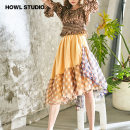 skirt Spring 2021 Average size Color matching (pre sale) Mid length dress commute Natural waist A-line skirt lattice Type H 18-24 years old SS21SK3067 More than 95% Chiffon HOWL STUDIO nylon Asymmetric, mesh, zipper, stitching lady 401g / m ^ 2 (inclusive) - 500g / m ^ 2 (inclusive)