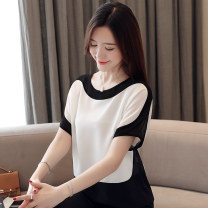 Lace / Chiffon Summer 2021 White, red, yellow, black [skirt] M,L,XL,2XL,3XL Short sleeve commute Socket singleton  easy have cash less than that is registered in the accounts Crew neck Solid color Bat sleeve 30-34 years old Lotus leaf edge Korean version 96% and above polyester fiber