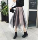 skirt Winter of 2019 Average size Mid length dress Versatile Natural waist Irregular Type A Other / other