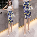 skirt Summer 2021 S,M,L,XL Mid length dress commute High waist skirt Decor Type H 25-29 years old other Other / other other Korean version