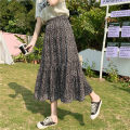 skirt Summer 2021 S,M,L Small black spots longuette commute High waist A-line skirt Dot Type A 18-24 years old Chiffon polyester fiber printing