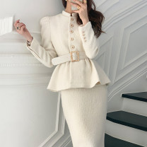 Fashion suit Winter 2020 Average size Beige coat, black coat, beige skirt, black skirt