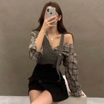 Fashion suit Spring 2021 Average size Skirt M, skirt s, shirt + vest 18-25 years old cotton