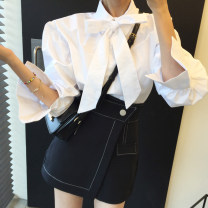 Fashion suit Autumn 2020 Average size Shirt, black skirt s, Black Skirt M 18-25 years old Other / other 71% (inclusive) - 80% (inclusive)