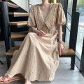 Dress Summer 2021 Khaki, white Average size longuette singleton  Short sleeve other High waist Solid color other Big swing puff sleeve 18-24 years old Other / other