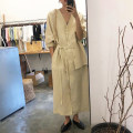 Dress Spring 2020 Beige Average size longuette singleton  commute V-neck Solid color 18-24 years old Other / other Korean version