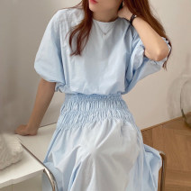 Fashion suit Summer 2020 Average size Apricot, blue, black 18-25 years old