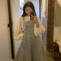 Fashion suit Autumn 2020 Average size Shirt, suspender, skirt 18-25 years old Other / other 71% (inclusive) - 80% (inclusive)