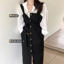 Fashion suit Summer of 2019 Average size Shirt, suspender skirt 18-25 years old Other / other
