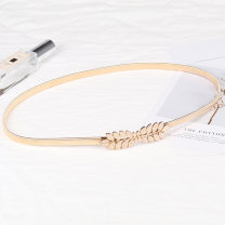 Belt / belt / chain Metal golden female belt Versatile Single loop Youth, youth, middle age a hook Glossy surface Glossy surface 1cm alloy Other / other 72cm