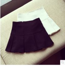 skirt Summer of 2019 Average size White, black, white vest Pleated skirt Type A 18-24 years old Other / other