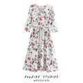 Dress Summer 2020 Decor XS,S,M,L Mid length dress singleton  three quarter sleeve street V-neck Decor Socket Lace up, stitching Europe and America