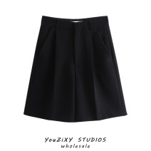 Casual pants black XS,S,M,L Summer 2021 Pant Straight pants High waist street routine Europe and America
