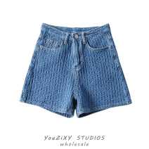 Jeans Summer 2021 Light blue, dark blue S,M,L,XL shorts High waist Pencil pants routine White, old, washed