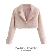 woolen coat Winter 2020 S,M,L Coat, dress other 71% (inclusive) - 80% (inclusive) have cash less than that is registered in the accounts Long sleeves street A button tailored collar High waist type Splicing Europe and America