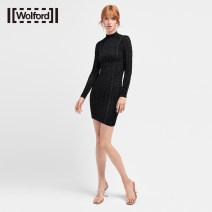 Dress Spring 2021 9180 Black / Black S M Short skirt Long sleeves 25-29 years old Wolford / wolfford 81% (inclusive) - 90% (inclusive) nylon Polyamide fiber (nylon) 88% polyurethane elastic fiber (spandex) 12%