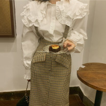 Fashion suit Winter 2020 Average size Shirt, plaid skirt s, Plaid Skirt M 18-25 years old Other / other