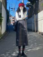 Dress Autumn 2020 lattice S,M,L Mid length dress singleton  Sleeveless commute lattice 18-24 years old Other Korean version More than 95% other