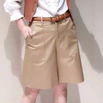 Casual pants 1 = XS, 2 = s, 3 = m, 4 = L, 5 = XL, 6 = XXL Summer 2021 Pant Wide leg pants Natural waist Versatile routine 31% (inclusive) - 50% (inclusive) O'amash banner cotton cotton