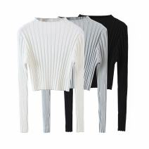 Wool knitwear Autumn 2020 S, M White, gray, black Long sleeves singleton  Socket other 30% and below Regular routine street Self cultivation routine Solid color Socket