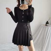 skirt Summer 2020 XS,S,M,L Black, red, navy High waist