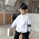 shirt white Haima house male 110cm,120cm,130cm,140cm,150cm,160cm spring and autumn Long sleeves Korean version Solid color Pure cotton (100% cotton content) Lapel and pointed collar Cotton 100% 21ab06 Class B