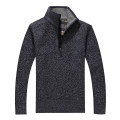 T-shirt / sweater Others Fashion City Blue grey, light grey, purple red, dark grey M,L,XL,2XL,3XL thickening Socket Half height zipper Long sleeves winter easy 2018 leisure time American leisure middle age routine Solid color No iron treatment Regular wool (10 stitches, 12 stitches) Flocking