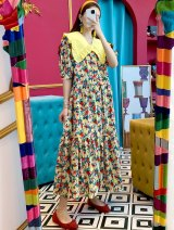 Dress Summer 2021 Blue, yellow Average size longuette singleton  Short sleeve commute V-neck High waist Decor Hanging neck style Korean version