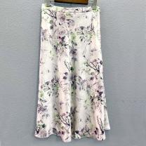 skirt Summer 2021 S,M,L,XL Decor e09a Mid length dress Versatile Natural waist Umbrella skirt Decor Type A More than 95% other other printing