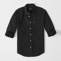 shirt Youth fashion Others S,M,L,XL,2XL,XS routine Button collar Long sleeves easy go to work autumn Cotton 100% American leisure Solid color oxford washing cotton Embroidery More than 95%