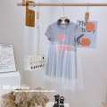 Dress Grey (mono brand in stock) female Other / other Other 100% spring and autumn Korean version Short sleeve lattice other Pleats MB118 other Four, five, six, seven, eight, nine, ten, eleven, twelve, thirteen, fourteen