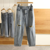 Jeans Spring 2021 Denim blue S,M,L,XL,XXL trousers routine 1K20339 Other / other 96% and above