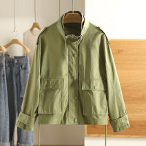 short coat Spring 2021 S,M,L,XL,XXL White, Avocado Green, white (less tie), Avocado Green (less tie), white (slightly dyed) Long sleeves routine routine singleton  Other / other 96% and above 1W20697 cotton